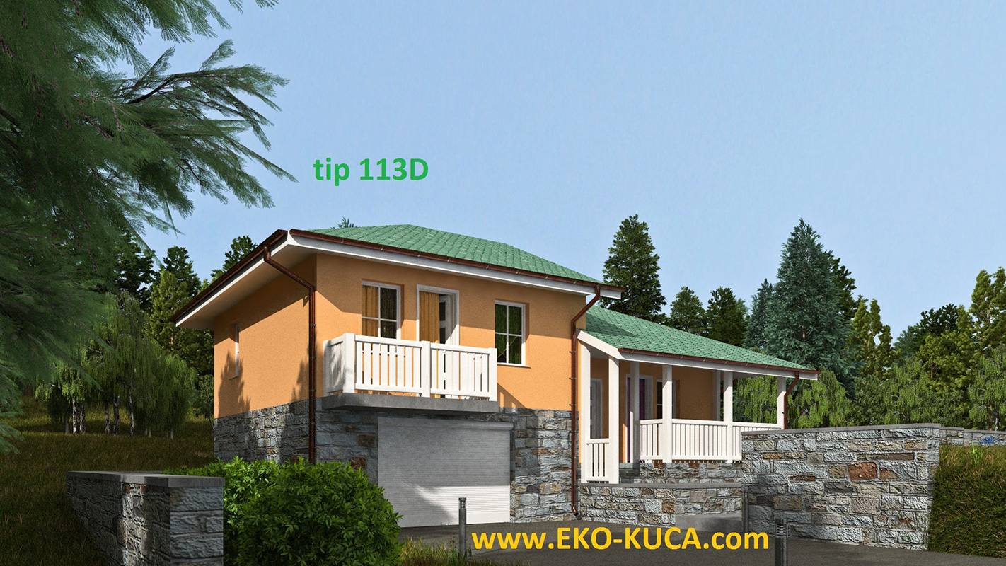 Prefabricated houses - Type 113D