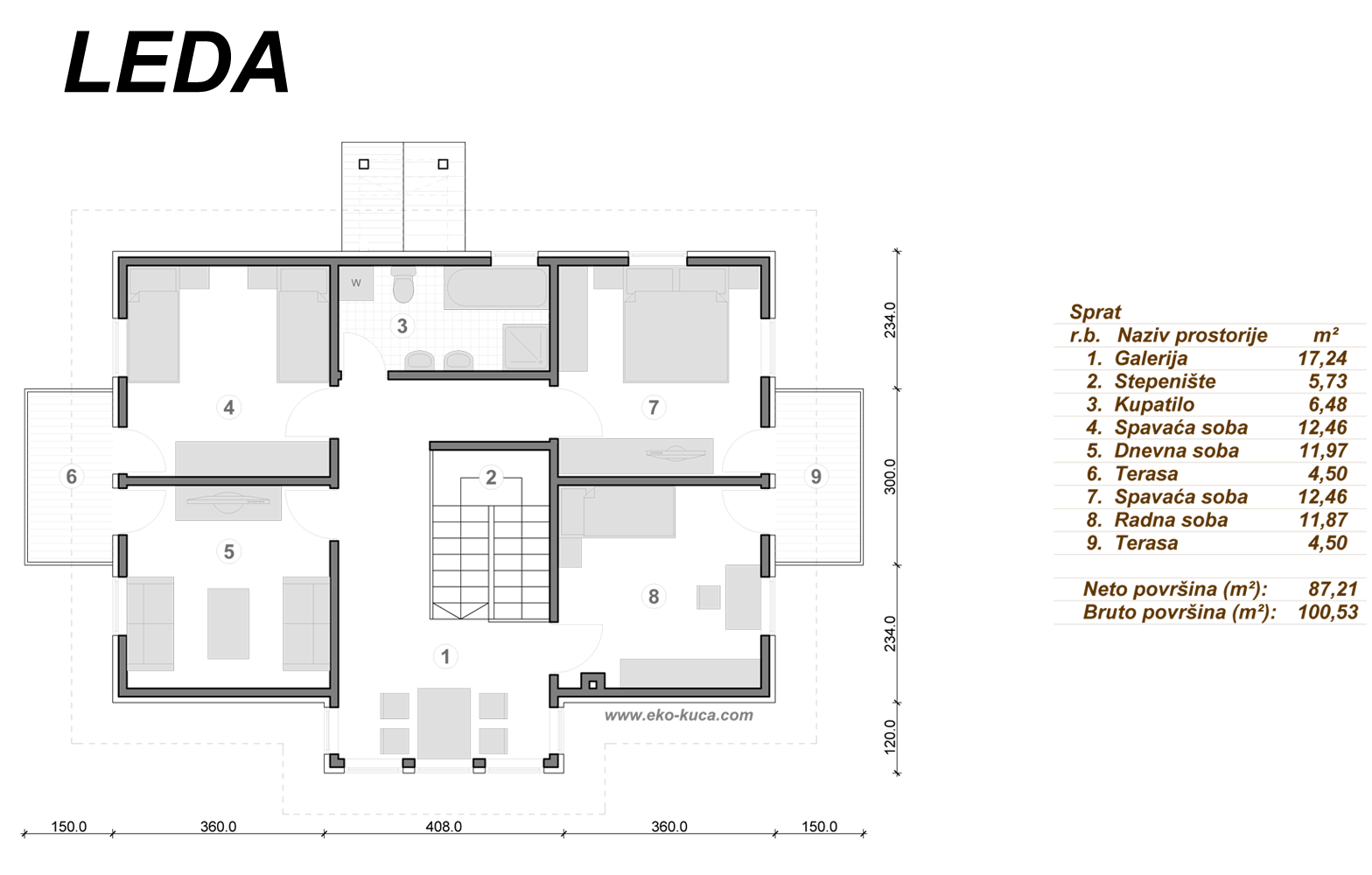 Prefabricated houses - Leda - Floor (storey)