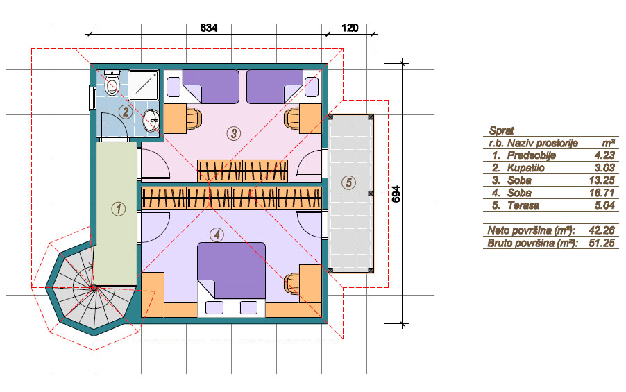 Prefabricated houses Marina - Floor (storey)