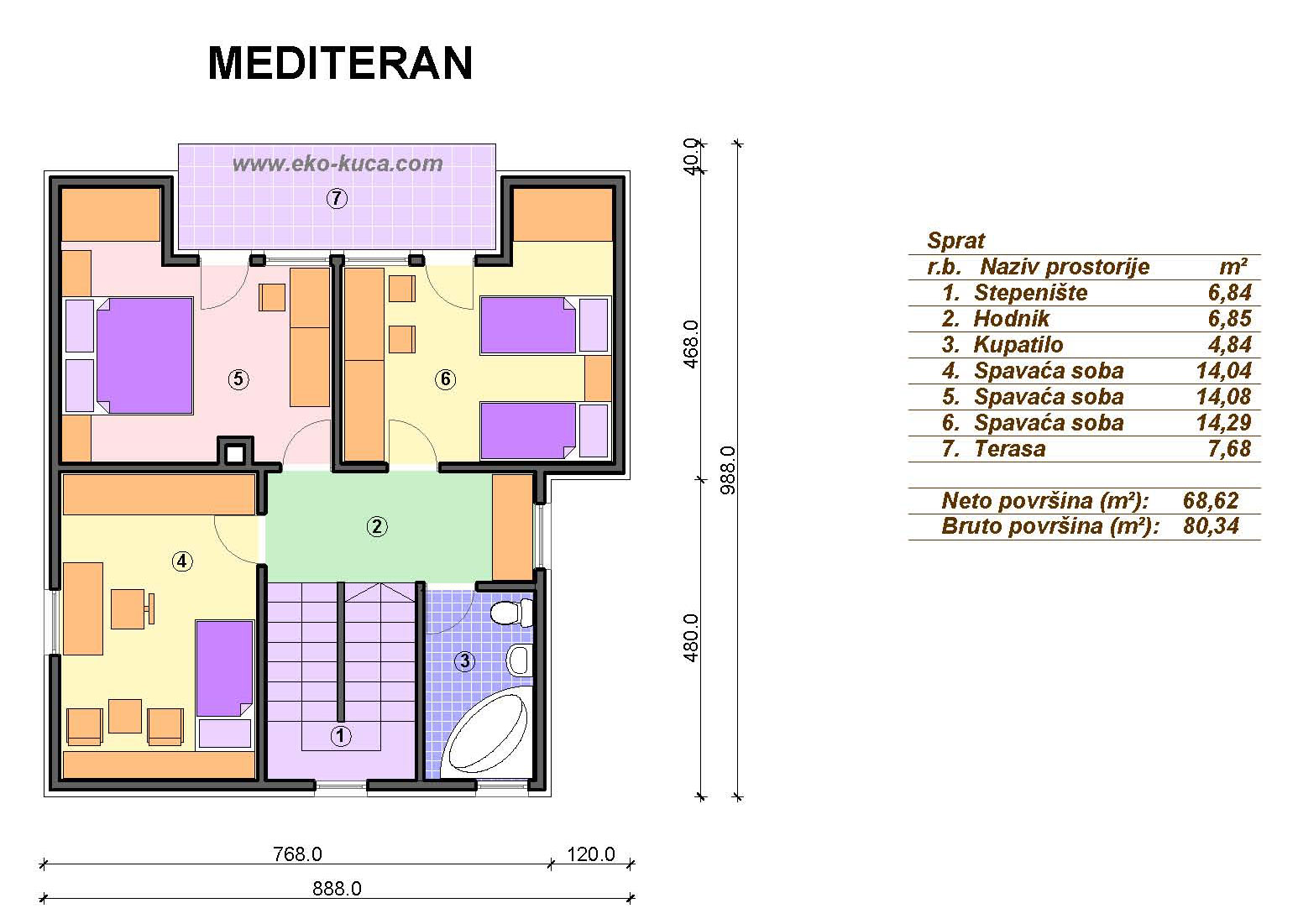 Prefabricated houses - Mediteran - Floor (storey)