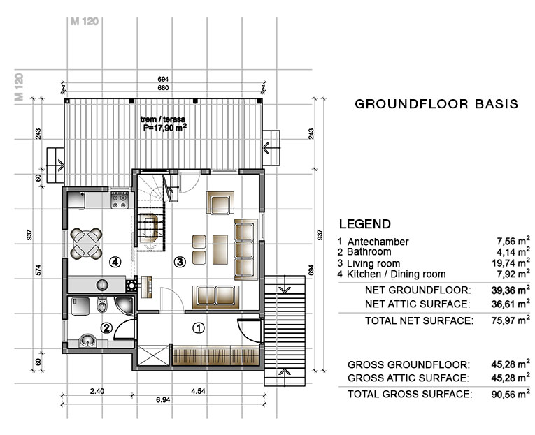 Groundfloor basis - Ada