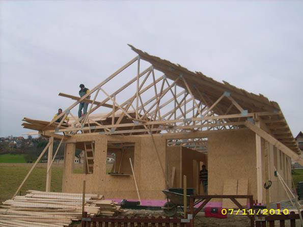 faze gradnje montažne kuće u Austriji