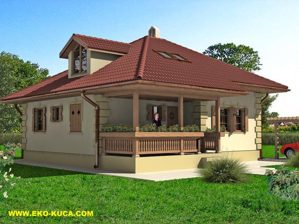 Montovaný dom - Šumadija