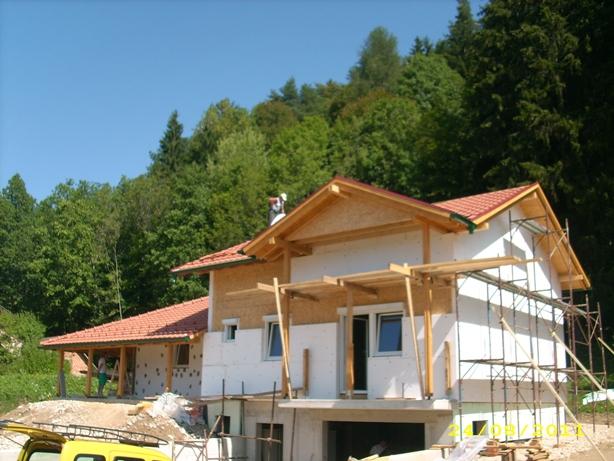 faze gradnje - montažna kuća Pasterk, Austrija